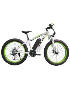 SMLRO 26 Zoll Elektro Mountainbike Fahrrad Fett Ebike 21Gang Schnee Elektrofahrrad 48V Lithium Batterie 500W Motor 4.0 Fett Hybrid-Fahrrad