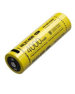 NITECORE NL2140R 4000mAh 3.6V 14.4Wh 21700 USB-C Li-ionen Akku