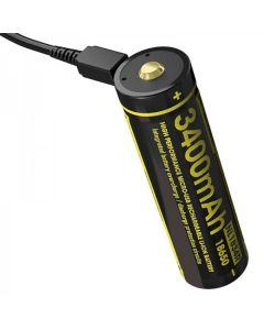 NITECORE NL1834R 3.6V Hochleistungs-Micro-USB 18650 Wiederaufladbare Batterie