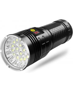 NiteBeam 18x cree xml T6 4 modes15000 Lumen Wiederaufladbare usb-Typ-C-LED-Taschenlampe