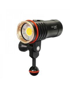 Archon DM10 II / WM16-II Tauchen Video-Taschenlampe COB-LED 3500LM-neutrales weißes Licht / rotes Licht / UV-Lichttauch-Fackel