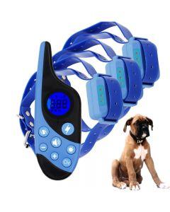 2021 Neue 500m Electric Hunde-Trainingskragen PET-Fernbedienung Wasserdicht wiederaufladbar mit LCD-Anzeige für alle Größenschlag-Schwingungsklang
