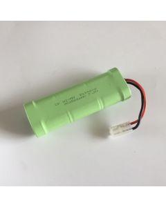 NI-MH 7,2V 2500mAh SC (3 + 3) RC White Plug Battery Pack