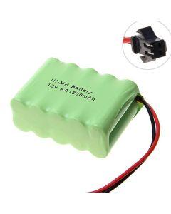 Ni-MH AA Battey 12V 1800mAh SM Plug Battery Pack