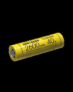 Nitecore IMR18650 2600mAh 40A Wiederaufladbare Batterie -1pc