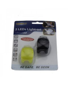 HJ008-2 2-LEDs Schwarzlicht 3-Modi mit Multifunktions-Fahrrad-Rücklicht