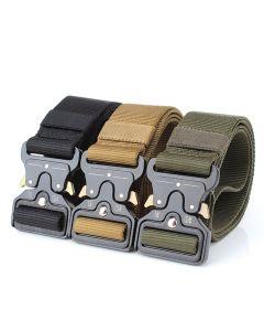 Enniu Taktische Gürtel Nylon Gürtel mit Metallschnalle einstellbar Hochleistungs-Trainings-Taillengürtel-Jagd-Zubehör