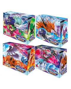4X360pcs Pokémon Sammelkartenspiel: Schwert & Schild Chilling Reign Booster Display Box Sammlung Kartenspiel Spielzeug Kinder Geschenk