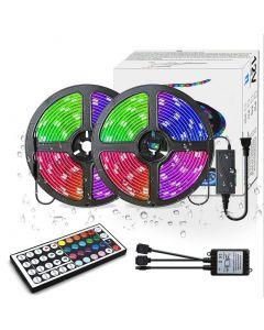 LED Strip Lights RGB 300led M Farbwechsel 5050 Flexible LED Seil Beleuchtung LED Streifen Leuchten Kit mit 44 Tasten IR Fernbedienung und UL Netzteil für Schlafzimmer Zimmer Home Kitche