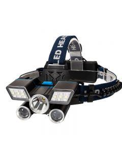 5LED Scheinwerfer USB Ladelager Wanderung Notfall Licht Angeln Outdoor-Ausrüstung
