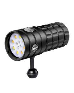 NiteBeam UV 395-400NM Tauchen Taschenlampe 8 XHP50 Weißes Licht / 4x rotes Licht / 4x UV-Licht LED-Tauchfackel-Taschenlampe