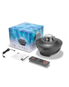 WasserWelle LED Projektor Licht Blueteeth USB Voice Control Musik-Player LED Nacht licht romantische Projektion Lampe Geburtstagsgeschenk