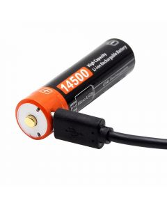 14500 750mAh 3.7V Micro USB Wiederaufladbarer Li-Ionen-Akku