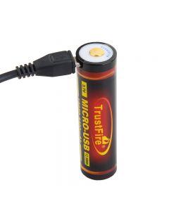 TrustFire 18650 3400mAh 3.7V Micro USB Wiederaufladbare Li-Ion-Batterie