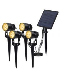 Solar powered Spotlight Solar Panel Outdoor Beleuchtung Landschaft Garten Baum separat Lampe