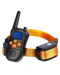 Neue 300m Remote Electronic Dog Trainings-Halsbänder mit LCD-Blau-Bildschirmanzeige wiederaufladbare 100 Ebenen Pet Electronic Dog Collars