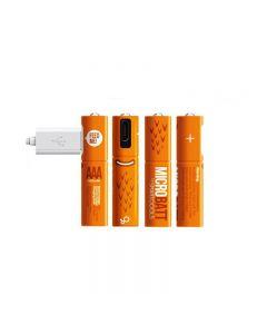 Wiederaufladbare 1.2V 450mAh AAA Ni-MH USB-Akku für Fernbedienung Maus Schnellladung durch Micro USB Kabel (4 Pack USB-Kabel)