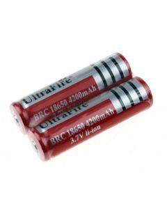 Ultrafire BRC 4200mAh 3.7V li-Ion wiederaufladbar 18650 Batterie (1 Paar)
