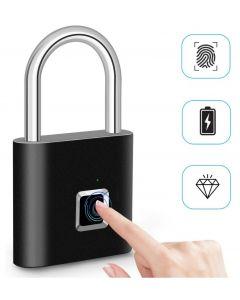 Fingerabdruck-Schloss Smart Padlock Daumendruck Türschlösser tragbare Anti-Diebstahl Fingerabdruck-Schloss für Tasche Schublade Koffer