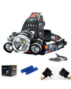 3T6 Scheinwerfer 3000 Lumen High-Power LED-Scheinwerfer Boruit 3xCREE XM-L T6 4 Modus Scheinwerfer-komplett Set