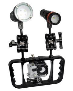 New Archon Z08 Tauchen Taschenlampe Gopro's Lampenarm Fotografie-Halterung Gopro / Kamera-Halterung Taschenlampenhalterung