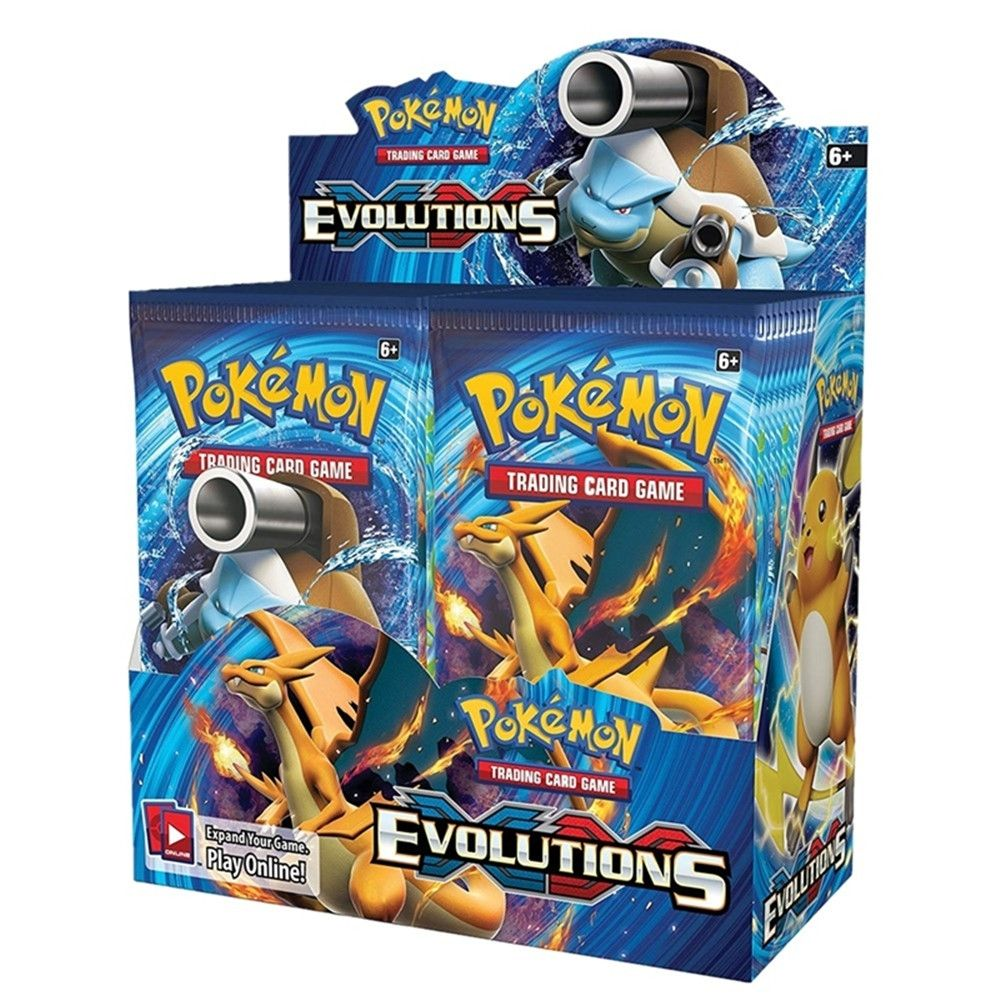Pokemon TCG: XY Evolutions Sealed Booster Box Collectible Trading Cards 36  Packs